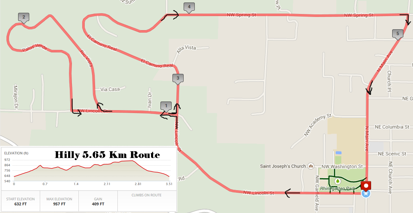 Hilly Route 5.65K